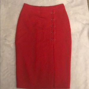 Red skirt with silver detail
